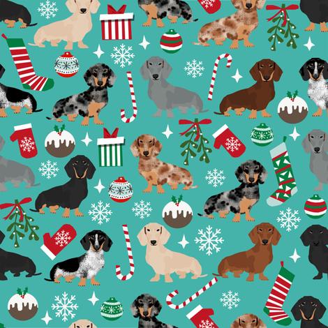 doxie christmas fabrics cute dachshunds fabric best dachshunds fabric fabric by petfriendly on Spoonflower - custom fabric