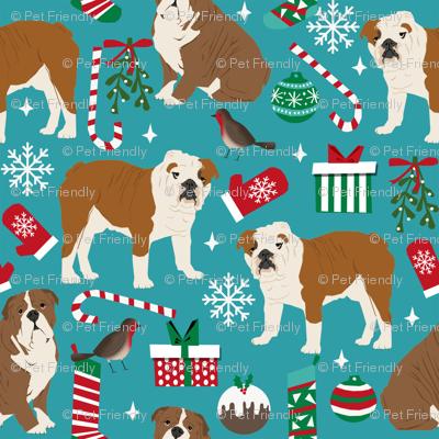 english bulldogs christmas fabric cute xmas design english bulldogs christmas fabrics cute dog