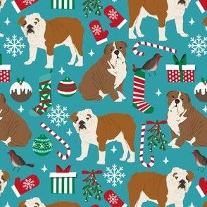 english bulldogs christmas fabric cute xmas design english bulldogs christmas fabrics cute dog