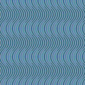 Ocean waves in shades of blue and blue-blue green