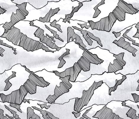 Mountains fabric by treatandcompany on Spoonflower - custom fabric