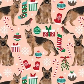 german shepherds fabric christmas dog dogs fabric cute xmas dog fabric german shepherds dogs fabric