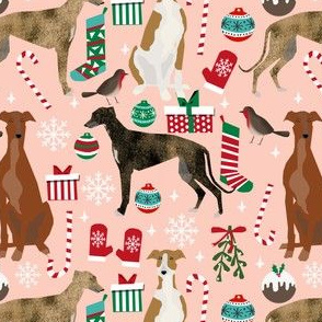 greyhounds christmas fabric xmas dog christmas fabrics cute holiday xmas dogs