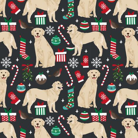 golden retriever christmas fabric cute dogs design dog fabrics xmas dog fabrics design golden retrievers fabric fabric by petfriendly on Spoonflower - custom fabric