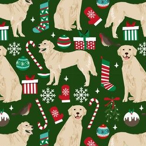 golden retriever dogs fabric cute xmas holiday dogs fabric dog christmas fabrics