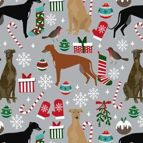 greyhound dogs fabric christmas dog fabric cute xmas dog design christmas dogs