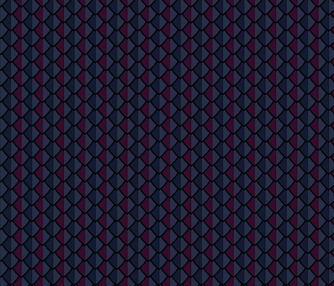 Leather armor, in blues and burgundy fabric by bargello_stripes on Spoonflower - custom fabric