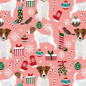 jack russell terrier christmas fabric cute xmas design dogs christmas fabric jack russell dogs fabric