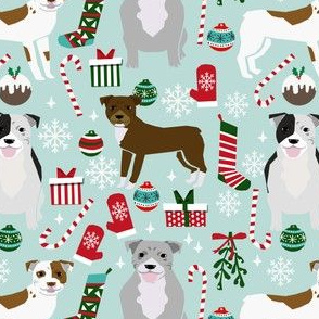 pitbulls christmas fabric cute dog christmas pitbull terrier fabric pitbull design christmas xmas dog fabric