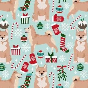 shiba inu dog christmas fabrics cute christmas dog design shiba inu dogs design