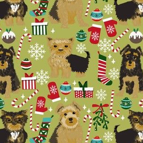 yorkie dog christmas fabric cute yorkshire terriers christmas design yorkie design