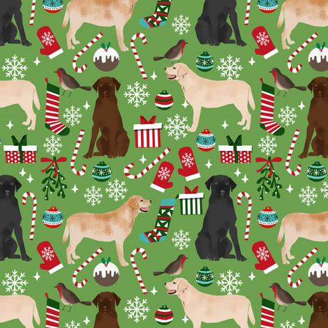 labrador christmas fabric cute dog fabrics labradors retrievers dogs fabric  fabric by petfriendly on Spoonflower - custom fabric