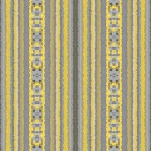 Yellow and Gray Tribal Stripe