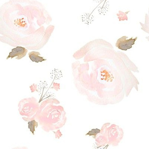 Rose Pink Fabric Wallpaper Gift Wrap Spoonflower