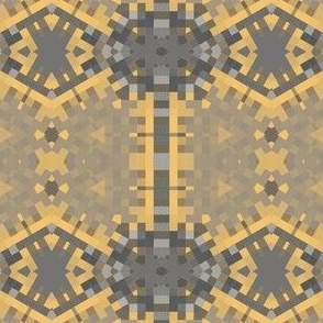 Warm Yellow and Gray Geometric