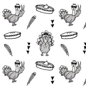 Monochromatic Turkeys and Pie