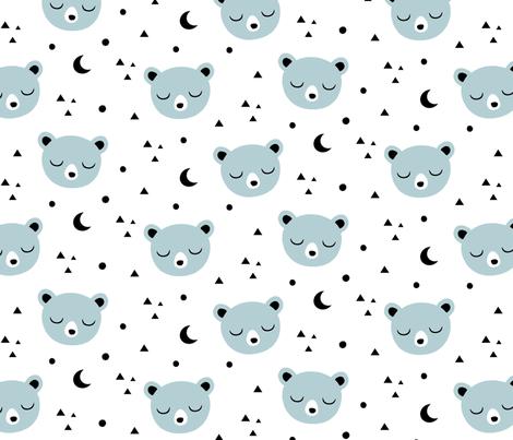 Bear Moon fabric by kimsa on Spoonflower - custom fabric