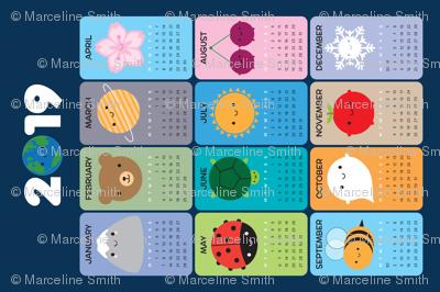 2019 Happy Nature Calendar