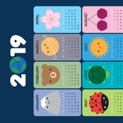 2019 Happy Nature Calendar