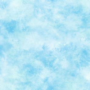 WATERCOLOR Sky Blue Smoke wallpaper - thistleandfox - Spoonflower