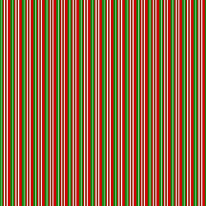Christmas Colors Striped
