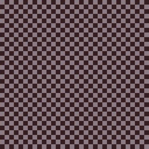 JP5 -Small - Checkerboard of Quarter Inch Squares in Purplish Brown aka Puce Tones