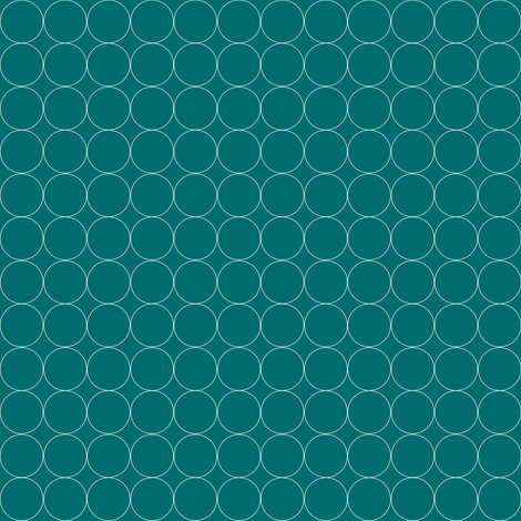 Circles on Teal fabric by mgdoodlestudio on Spoonflower - custom fabric