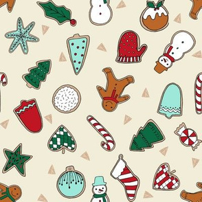 christmas cookies // christmas baking foods cute christmas baking foods fabric by andrea lauren andrea lauren design