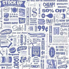 Stock Up!* (Shadow)    text typography store market grocery supermarket sale food vintage retro