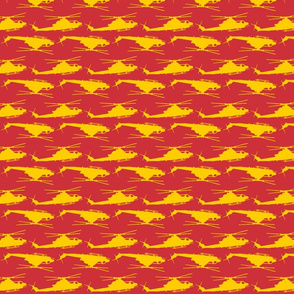 Cobra Zulu Helicopter in a red and yellow offset pattern