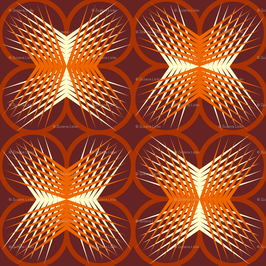 Square star burst wallpaper zuzana licko spoonflower