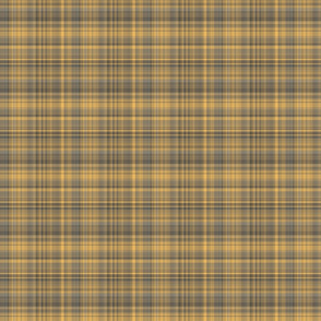 Warm Yellow and Gray Plaid
