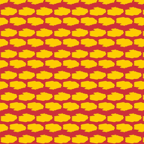 Amphibious Assault Vehicle in a red and yellow offset pattern