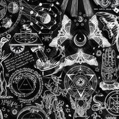 Black & White Haunted Occult