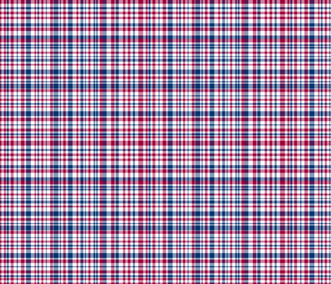 Red White and Blue Plaid fabric by argenti on Spoonflower - custom fabric