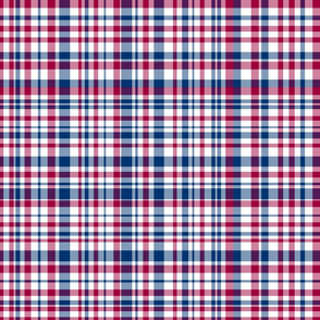 Red White and Blue Plaid
