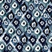 ikat pendants indigo
