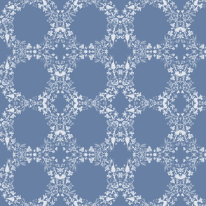 Blue Floral circles