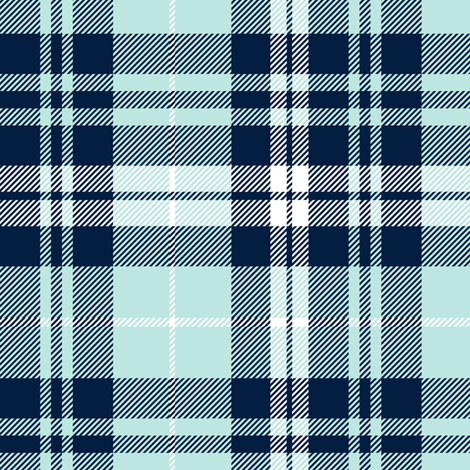 fall plaid (blue, navy, white) || the bear creek collection fabric by littlearrowdesign on Spoonflower - custom fabric