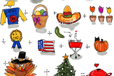 Holidays in the Kitchen fabric by kschowe on Spoonflower - custom fabric
