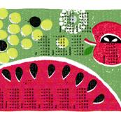 2020 fruit tea towel calendar