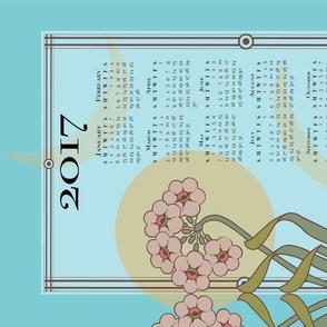 2017 art nouveau calendar