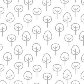 PNW - Trees Light Gray on White