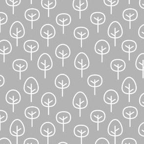 PNW - Trees White on Light Gray