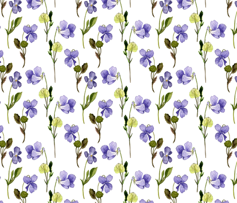 violet flowers fabric by cat_arch_angel on Spoonflower - custom fabric