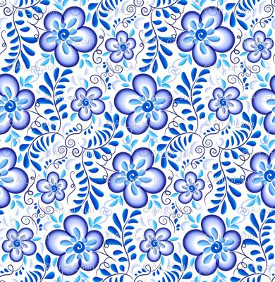 Blue flowers diagonal