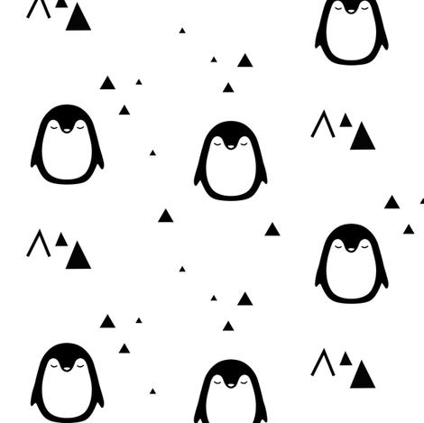 Sleepy Penguins fabric by kimsa on Spoonflower - custom fabric