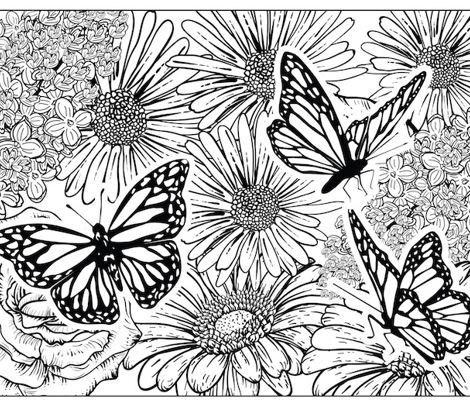 Butterly Garden Colouring Pillowcase