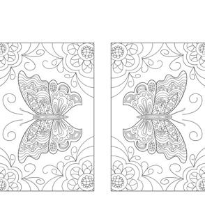 Butterly Doodles Colouring Pillowcase
