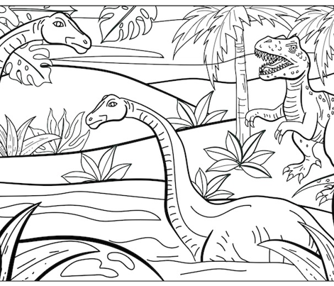 Dinosaurs Colouring Pillowcase